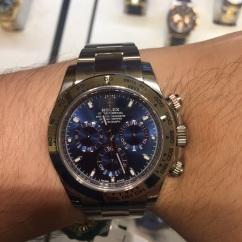 Rolex Daytona in White Gold w/ Blue Dial