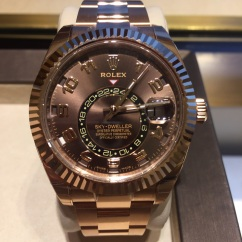 Rolex Sky-Dweller in Everose Gold w/ Chocolate Dial