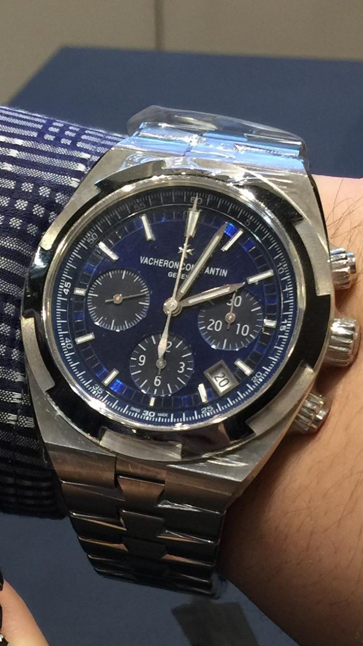 Vacheron Constantin Overseas Chronograph in Blue